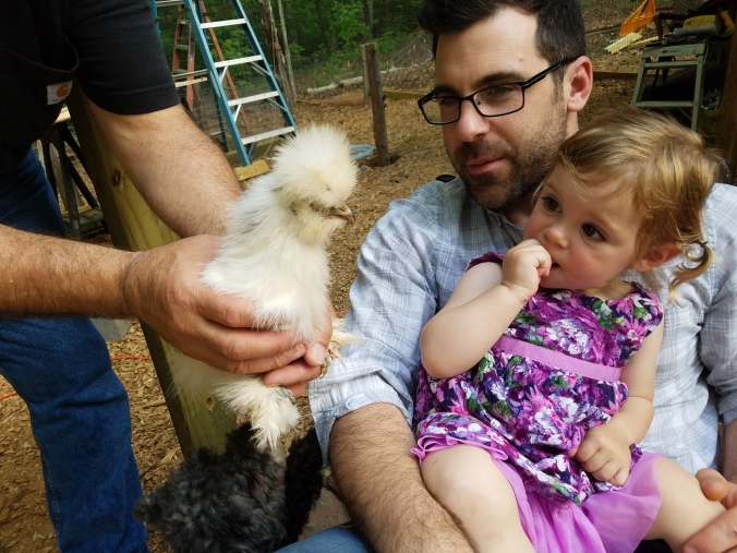 Brad and Piper studying a silkie.jpg