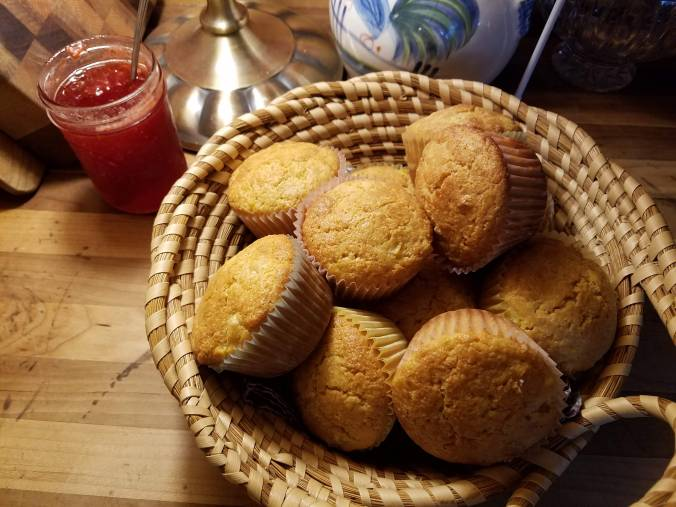 muffins in basket