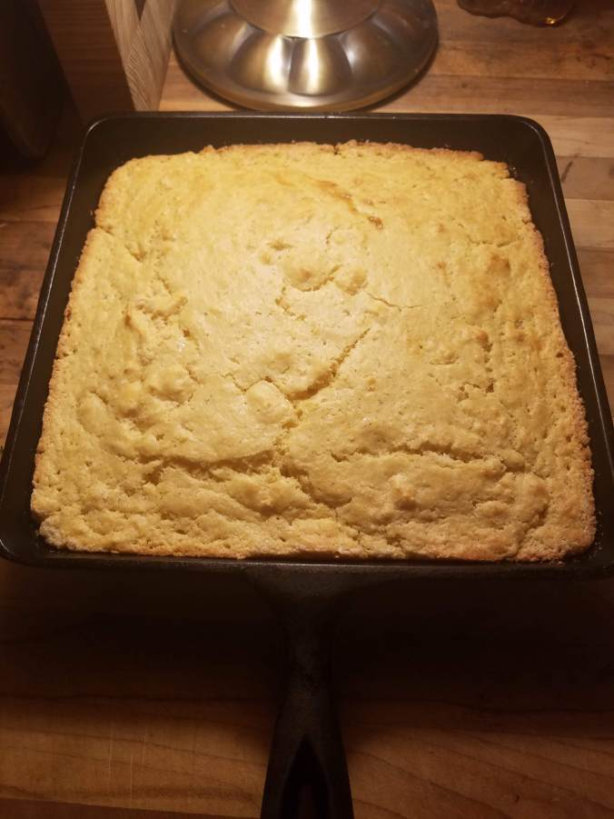 johnny cake in pan