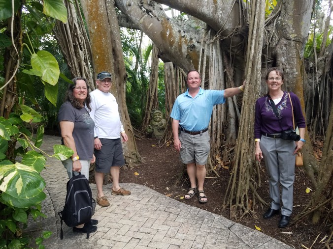 Debra, Brian Fred and Dina among banyan trees.jpg